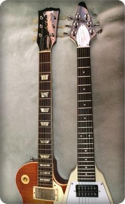 スケール570mmのミニギター。レスポールと比較