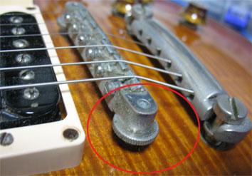 レスポールタイプの弦高調整