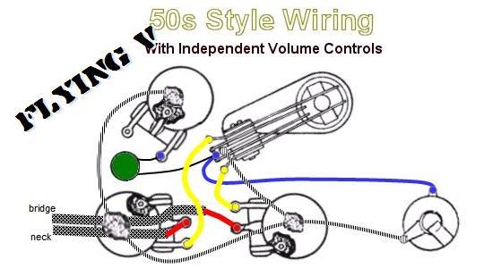 Flying V 50s Style Wiring 2
