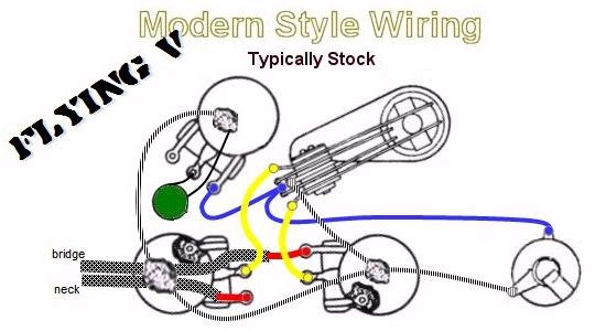 Flying V Modern Style Wiring 1