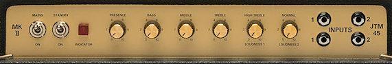 MARSHALL / JTM45のコントロール