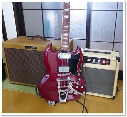 シールドケーブルのレビューで使用したアンプとギター