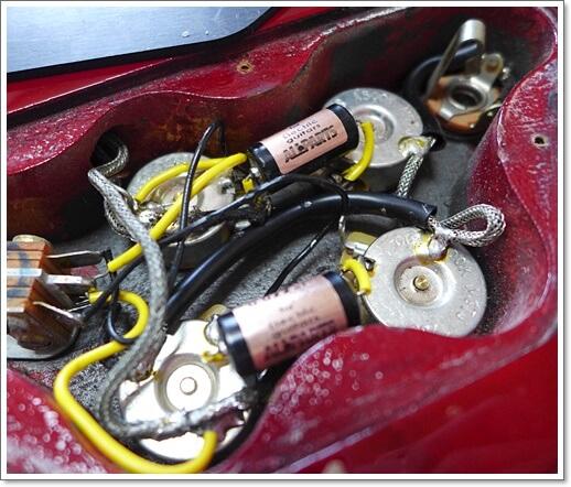 SGの載せたVitamin-Q(ビタミンQ)タイプ、0.022μFのコンデンサー