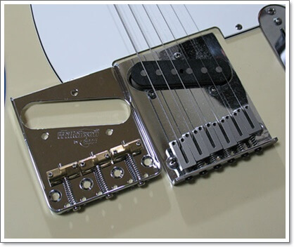 American Standard Telecasterと通常タイプのブリッジ比較