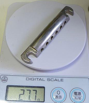 テールピースの重さを測ってみた:Gotoh製アルミテールピース