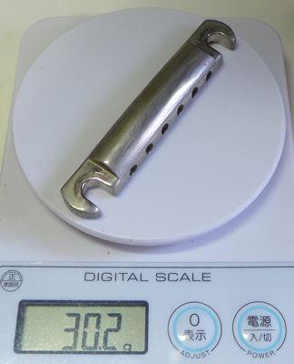 テールピースの重さを測ってみた:ショップオリジナル・アルミテールピース