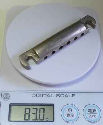 テールピースの重さを測ってみた:純正