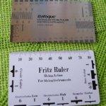 [Fritz ruler/Baroque ruler] ギターの調整に便利なカードサイズの定規セット
