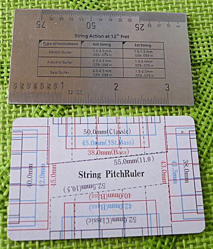 ナット幅も測れるFritz ruler