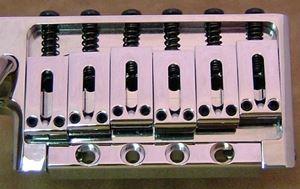 ESPのトレモロユニットFlickerは4つのネジでボディーに取り付けます