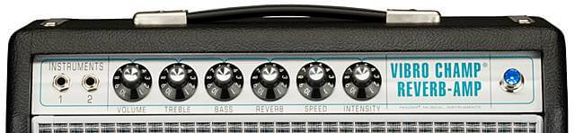 FENDER / 68 CUSTOM VIBRO CHAMP REVERB ( 5w )のコントロール