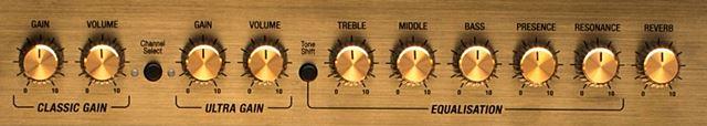 MARSHALL / DSL20のコントロール
