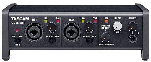 TASCAM US-2x2HR コントロールパネル