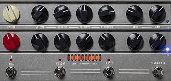 Hughes & Kettner AmpMan シリーズのコントロールパネル