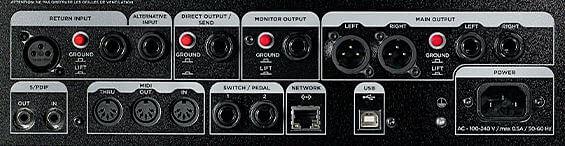 Kemper Profiling Amplifier のバックパネル