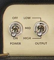 MARSHALL Origin 20の出力切り替えスイッチ