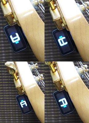 D'Addario NS Micro Headstock Tuner PW-CT-12はディスプレイ表示を4方向に回転可能