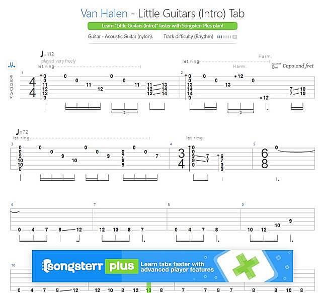 Van Halen - Little Guitars (Intro)TAB譜