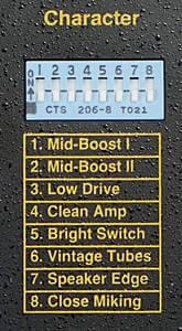 TECH21 / SANSAMP CLASSICのキャラクタースイッチ