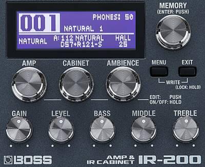 BOSS IR-200 コントロール
